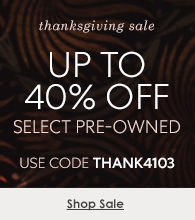 Up to 40% off pre-owned watches