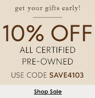 10% off pre-owned watches
